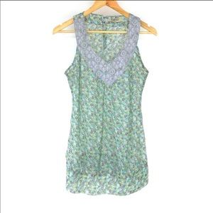 Romy Floral Sheer Tank size M